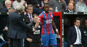 Zaha was given a warm reception by the home crowd. GOAL