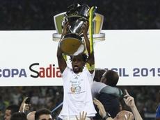 Sérgio Mallandro e até cerveja 'ajudaram' Palmeiras contra o Santos, em 2015. AFP