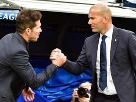 Zidane elogia il tecnico dell'Atletico Madrid. Goal