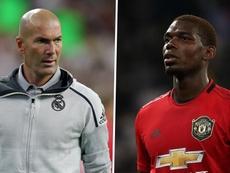 Il francese immortalato con Zidane a Dubai. AFP