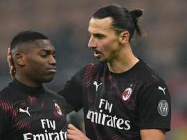 Zlatan Ibrahimovic Rafael Leao Milan