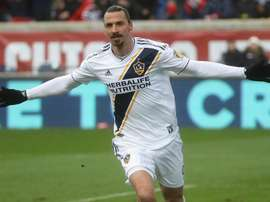 Ibrahimovic scored his third goal for Galaxy. GOAL