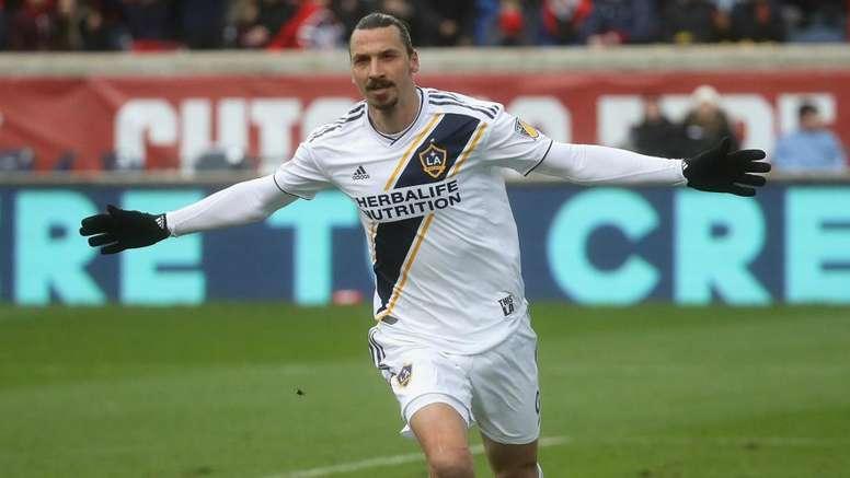Ibrahimovic scored his third goal for Galaxy. GOAL