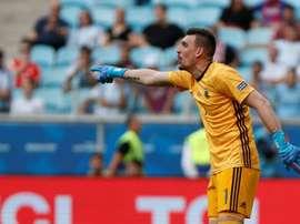O goleiro pode estar fazendo as malas. AFP/Archivo