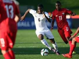 Godfred Donsah disputa un partido con la selección de Ghana. Twitter