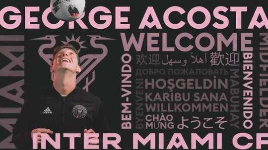 Goerge Acosta fue anunciado por Inter Miami como nueva incorporación. InterMiamiFC