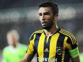 Gökhan Gönül, durante un partido con el Fenerbahçe. Fenerbahce