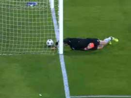 Soria couldn't stop the ball going into the back of the net. Captura