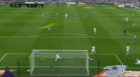 Adrian was presented with a tap-in at the far post. beINSports