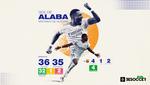 Gol de Alaba, sinónimo de victoria: 32 triunfos consecutivos cuando marca