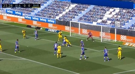Fati scored Barcelona's first goal. Screenshot/Movistar+