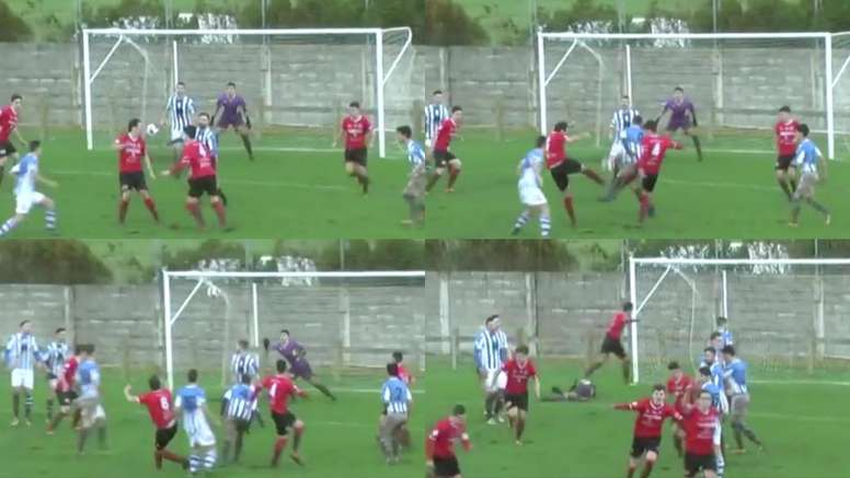 Golazo del CD Laredo. Captura/Footters/RFEF