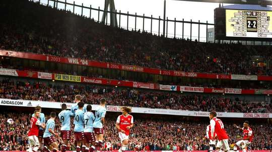 Aubameyang scored a stunning free-kick. Twitter/Arsenal