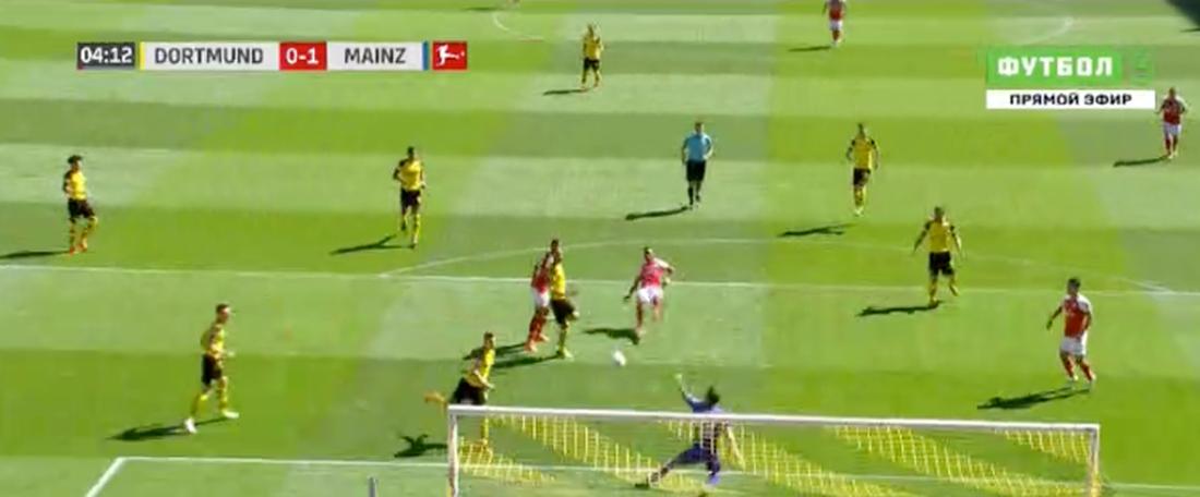 Là quand il le faut. Capture/Bundesliga