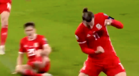 Bale appeared to help his country once again. Captura/UEFAtv