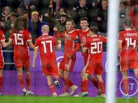 Gales y Croacia empatan. Twitter/Cymru