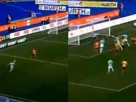 Premier but pour Bastoni avec l'Inter... trois minutes après son entrée en jeu. Capture/DAZN