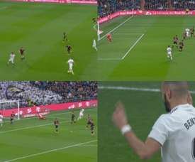Benzema ouvre le feu. Capture/beINSports