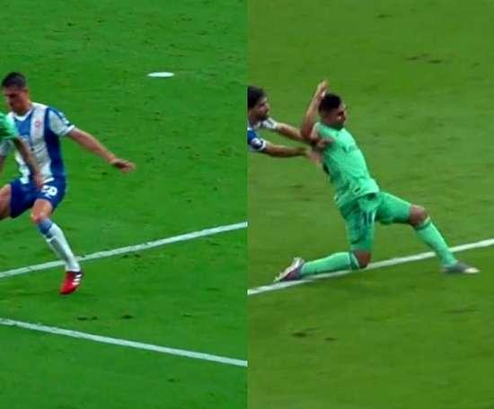 Il goal di Casemiro su assist di Benzema. Movistar