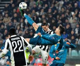 Mbappé chose Cristiano's bicycle kick as the best goal he's ever seen. AFP