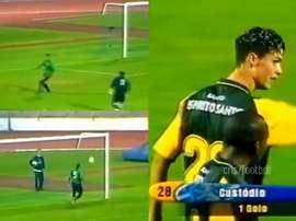 Cristiano Ronaldo marcou golaço em sua estreia não oficial. Capturas/cris7football
