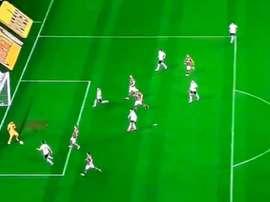 Gol de Danilo Avelar contra o Flamengo pela Copa do Brasil. Twitter