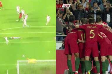 o golaço do empate de Danilo Pereira. Captura/Cuatro