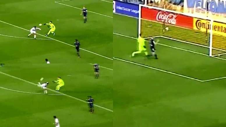 Danny Barrera metió un curioso gol. Capturas/USL