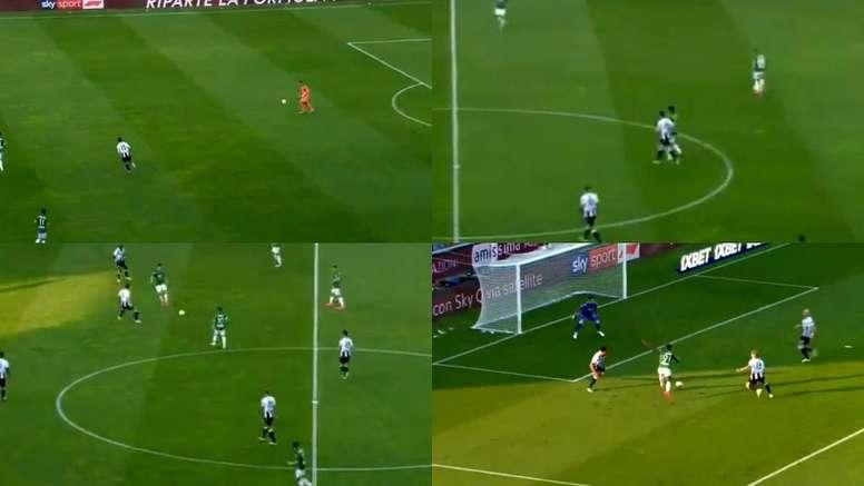 Il goal di Zapata. beINSports