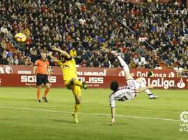 Eugeni abrió el marcador con un gol de chilena. LaLiga