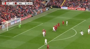 Pirlo scored a great goal at Anfield. ESPN