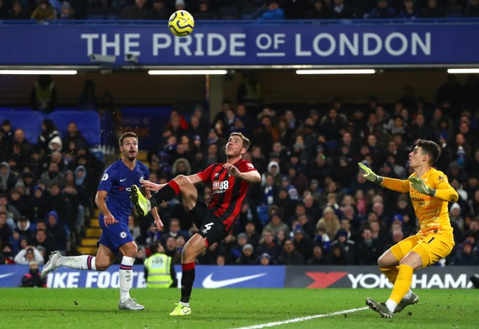 Gosling scored an absolute stunner to give Bournemouth the win over Chelsea. Twitter/Bournemouth