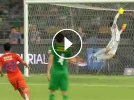 Gol de Graziano Pelle con el Shandong Luneng. Twitter