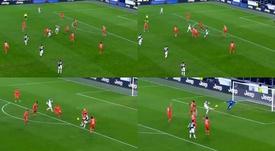 Higuaín y Dybala se entendieron a la perfección. Capturas/DAZN