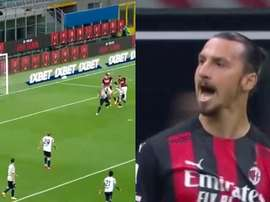 Ibrahimovic got a brace. Screenshot/MovistarLigaDeCampeones