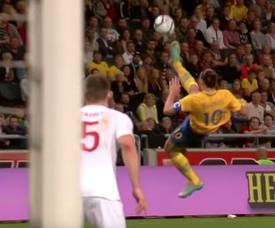 El gol de Ibra, histórico. Captura/Youtube/FIFATV