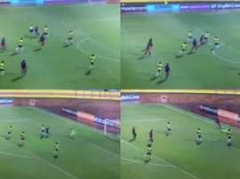 Iván Angulo anotó un auténtico golazo. Twitter/Jairocastillo88
