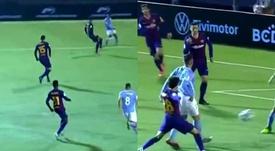 Neuf minutes ont suffi à Ibiza pour marquer au Barça. Captures/DAZN