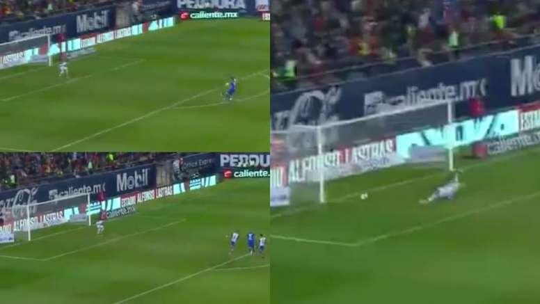 Rodríguez no pudo evitar un nuevo tropiezo de Cruz Azul pese a su golazo. Captura/ESPN