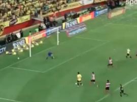 Le Brésilien a marqué deux buts avec le Barcelone Guayaquil. Capture/DirectT