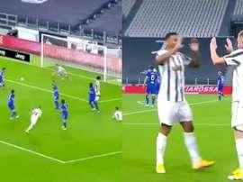 Kulusevski scored for Juventus. Screenshot/Vamos
