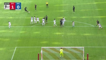 El Bayern metió la directa para golear en el Allianz Arena. Captura/Vamos