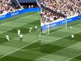 Lucas Moura fusille l'Inter Milan à la 3e minute de jeu. Capturas/PremierSports