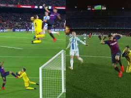 Golo de Luis Suárez, validado no VAR. Captura/Movistar