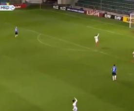 Kuusk hizo un gol en propia. Captura/L'Équipe