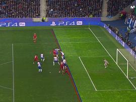 Mané abriu o marcador para o Liverpool no Dragão. Captura/Movistar