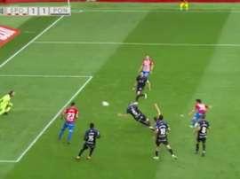 Manu García scored a great goal. Screenshot/LaLiga