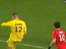 Meunier marcou um grande gol frente ao Rennes. Twitter