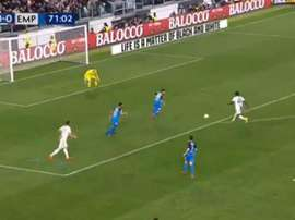 Moise Kean scored the only goal of the game. Capturas/beiNSports