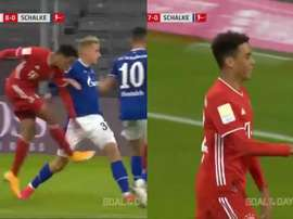 Musiala is Bayern's youngest Bundesliga scorer. Screenshot/MovistarLigaDeCampeones